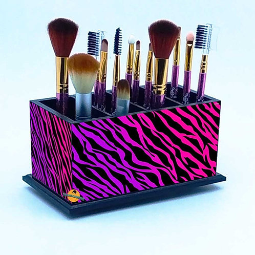 Porta Pincel De Maquiagem -  Decoração Zebra M2
