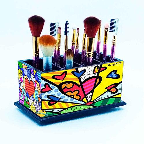 Porta Pincel De Maquiagem - Decoração Romero Britto