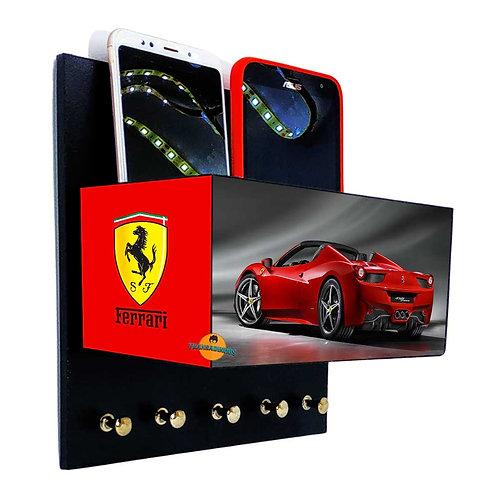 Porta Chaves Ferrari C/ Organizador