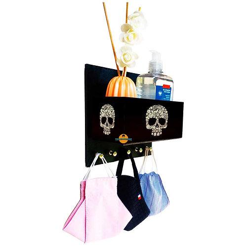 Porta Máscaras c/ Organizador Caveira Mexicana
