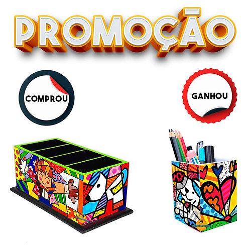 Porta Controle Remoto Decoração - Romero Britto Mod. 3 + Brinde