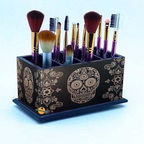 Porta Pincel De Maquiagem -  Decoração Caveira Mexicana M2