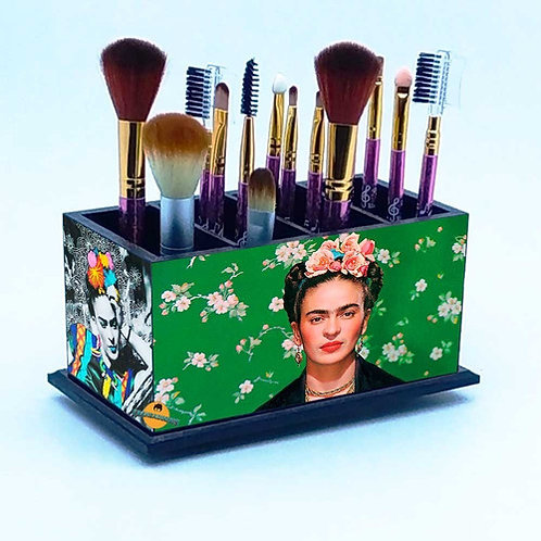 Porta Pincel De Maquiagem -  Decoração Frida Kahlo