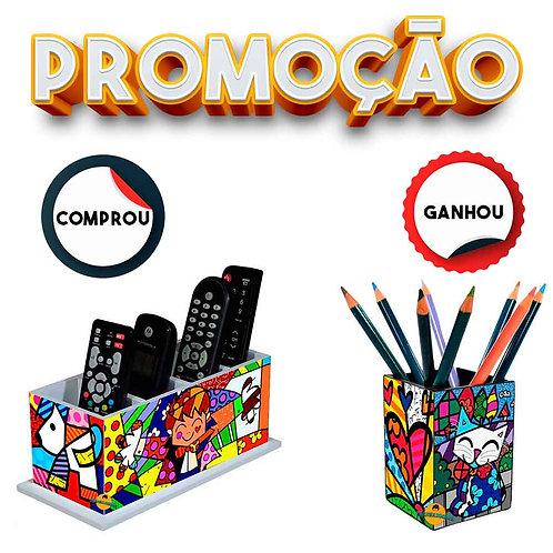 Porta Controle Remoto decoração Romero Britto + Brinde