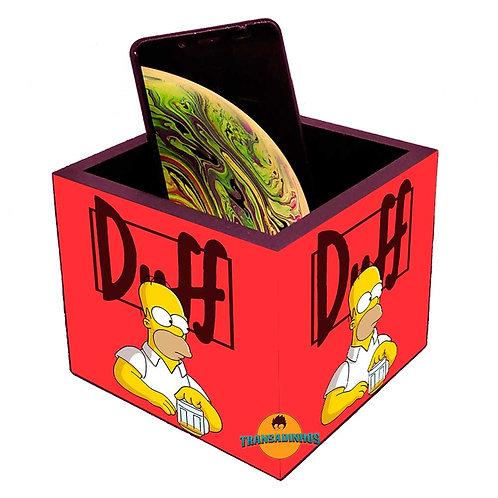 Porta Smartphone Decoração Duff Simpsons