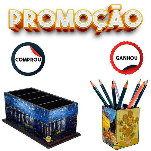 Promoção - Porta Controle decoração Van Gogh + Brinde
