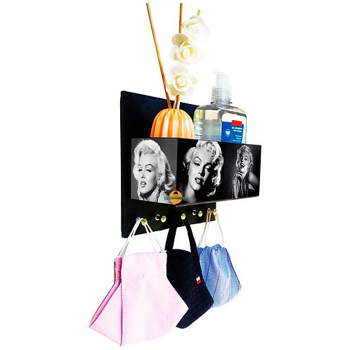 Porta Máscaras c/ Organizador Marilyn Monroe
