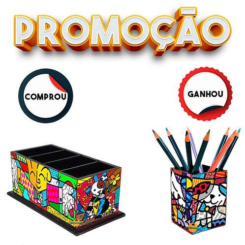 Promoção - Porta Controle Decoração Romero Britto + Brinde