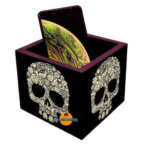 Porta Smartphone decoração Caveira Mexicana
