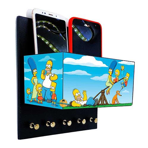 Porta Chaves Os Simpsons C/ Organizador