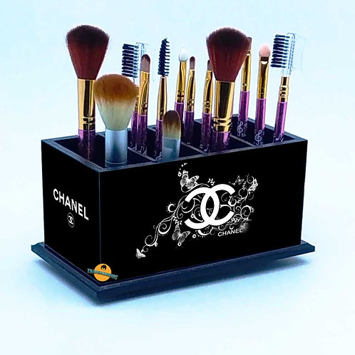 Porta Pincel De Maquiagem Personalizado Preto - Grifes Mod 2