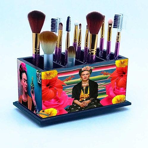 Porta Pincel De Maquiagem -  Decoração Frida Kahlo M2