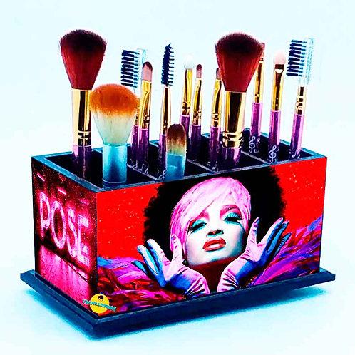 Porta Pincel De Maquiagem - Decoração Série Pose