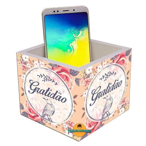 Porta Smartphone Decoração- Gratidão