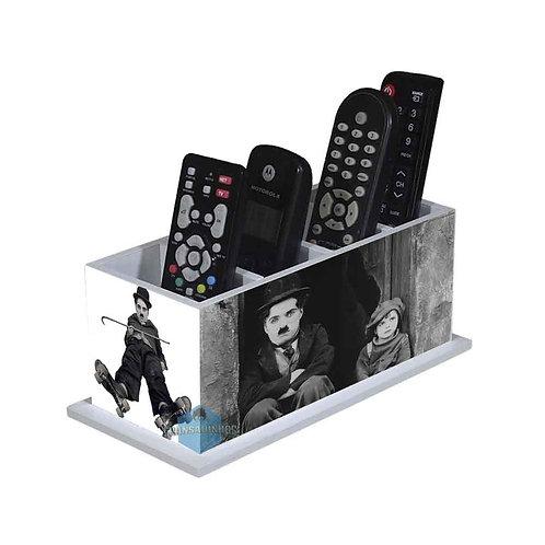 Porta Controle Remoto Charlie Chaplin