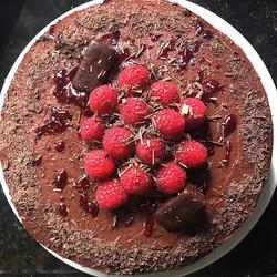 Chocolate Raspberry Layer Cake _ Triple