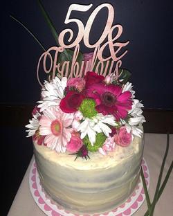Buttercream & Real Florals for Jeannine'