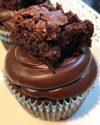 topped with chocolate fudge buttercream