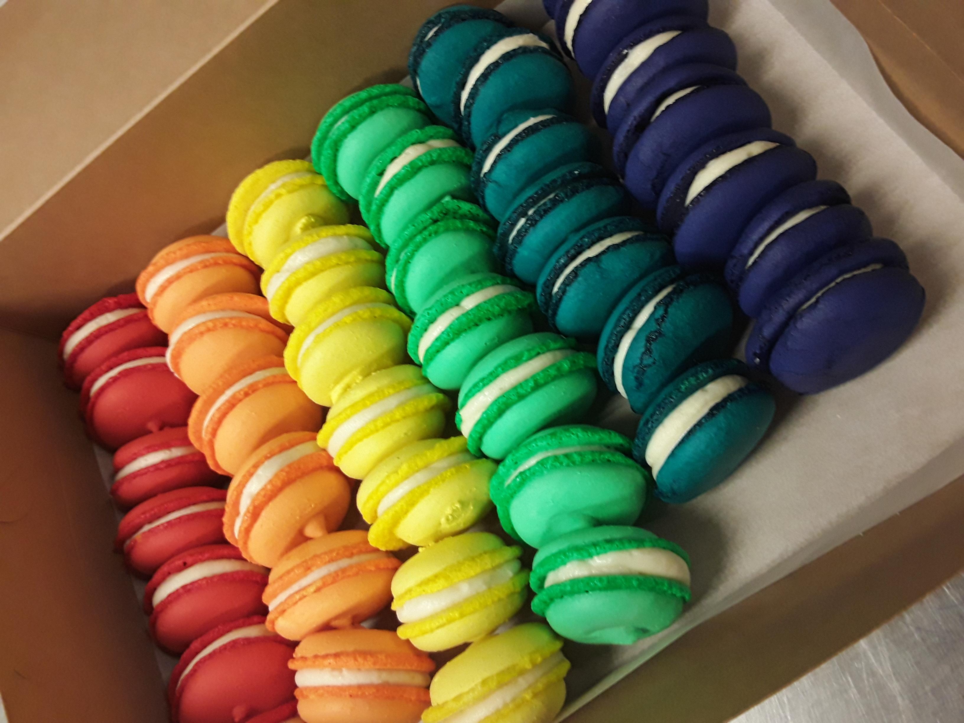 Rainbow Macarons