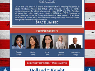 Partner Melisa Peña will be a panelist at DCBA Immigration Training
