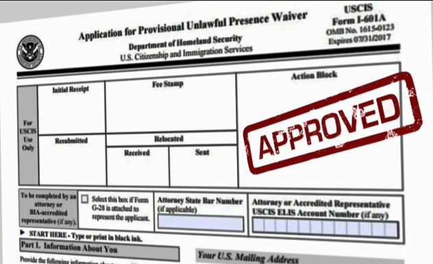 USCIS new rule extending of the I-601A Provisional Waiver to include spouses and children of Lawful