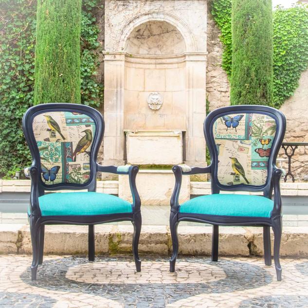 Fauteuils Cabriolets Style Louis XV