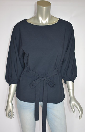 Woven belted blouse