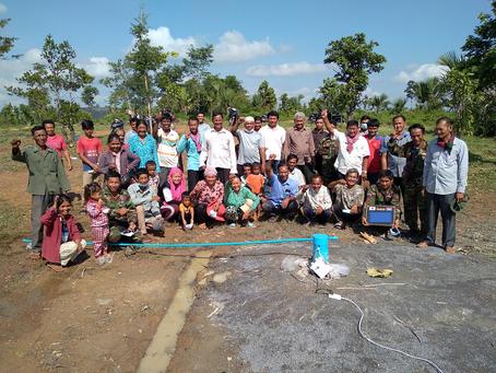 K様のご支援による大型井戸が完成しました(ポローラプルーウエン小学校)