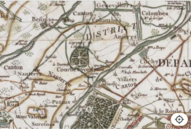 Vue Neuilly Courbevoie réalisée entre 1756 et 1793