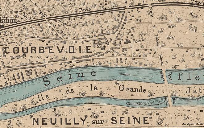 Extrait du plan visuel du nouveau village de la Garenne