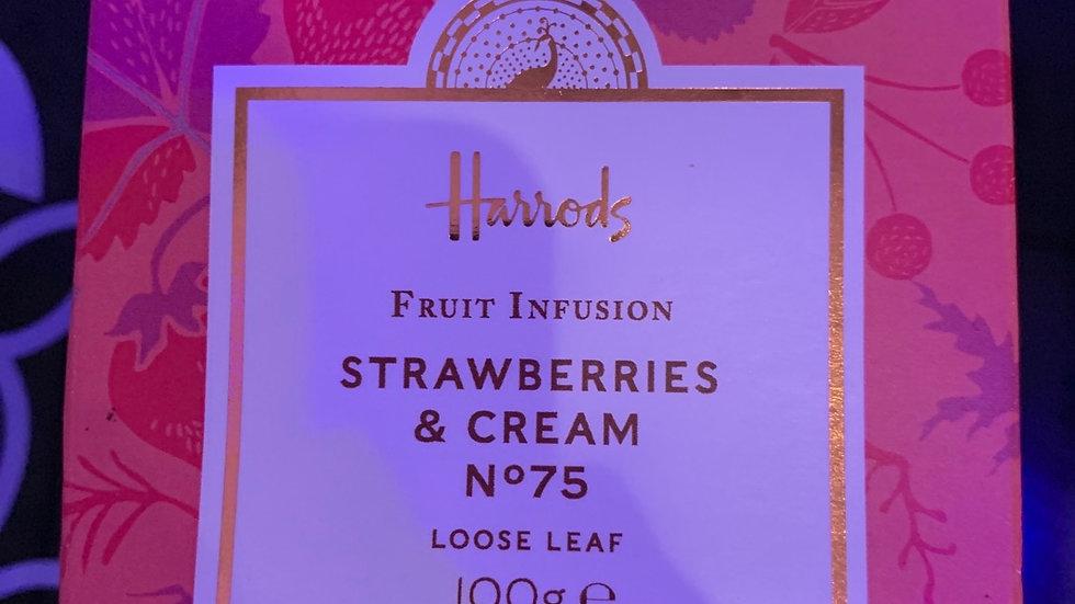 HARRODS strawberries & cream  fruit infusion