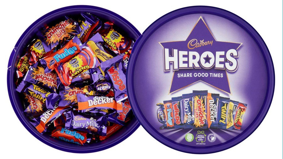 Cadbury Heroes Chocolate Tub ( 600 g )