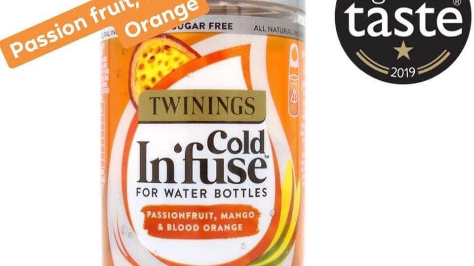 Passion fruit , mango & blood orange cold Infuse