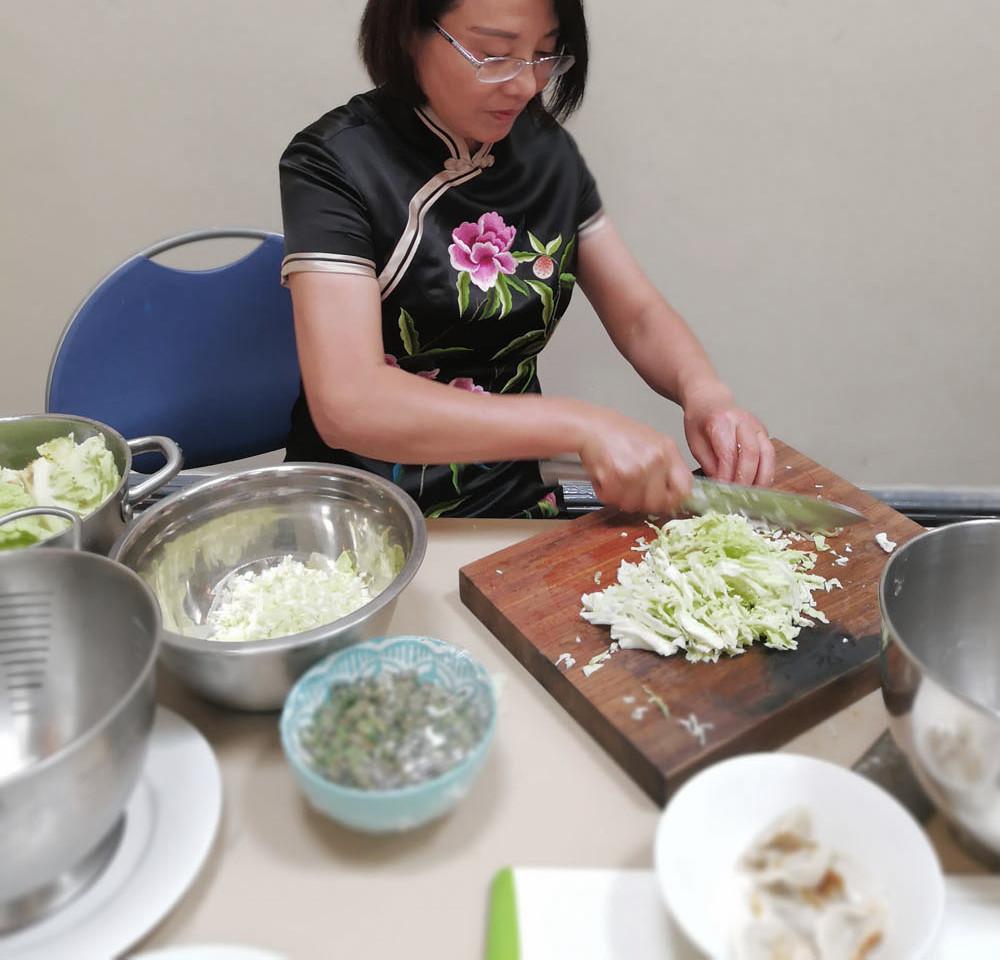 Preparing the Dumpling Ingredients