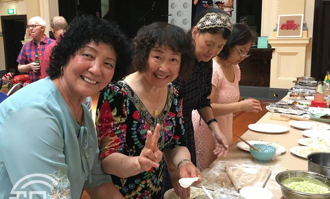 Coming together for Dumpling Preparation