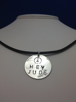 "Beatles Inspired ""Hey Jude"" Necklace"
