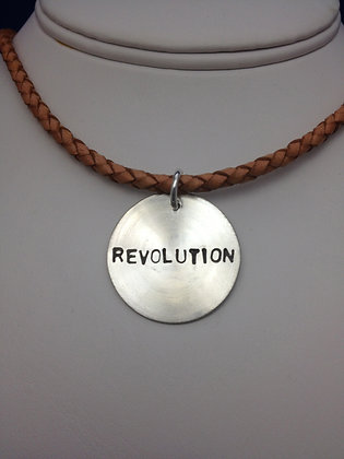 "Beatles Inspired ""Revolution"" SS Necklace"