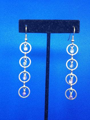 Circle Stone Earrings