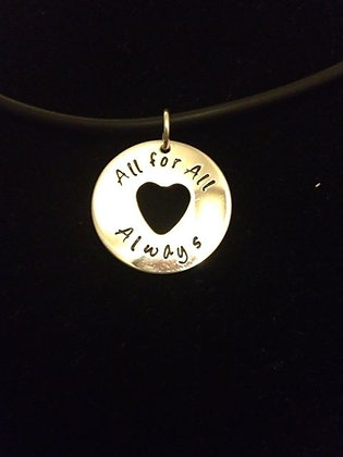 SS All for All Always Pendant on Cord