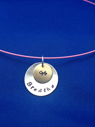 "Sterling Custom ""Breathe"" Disc on Cord"