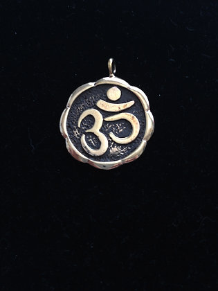 Beatles Inspired Ohm Bronze Charm LARGE