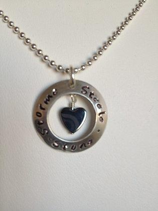 Love my Kids Sterling Silver w/Hematite Heart