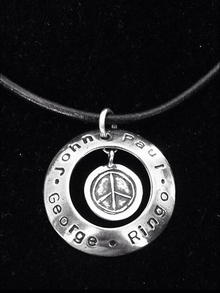 Beatles Inspired Sterling Silver Boys in a Circle