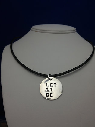 "Beatles Inspired ""Let It Be"" Lyric Necklace"