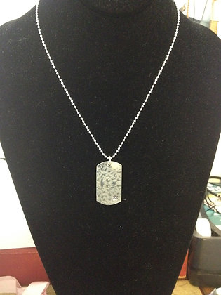 Leopard Tags Sterling Silver on SS Ball chain