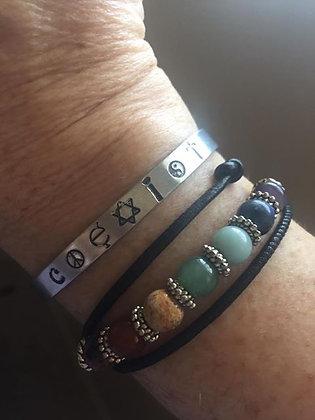 """Aluminum """"Coexist"""" Bracelet"""