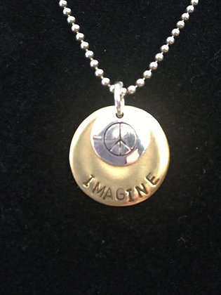 "Beatles Inspired ""Imagine Peace"" Necklace"