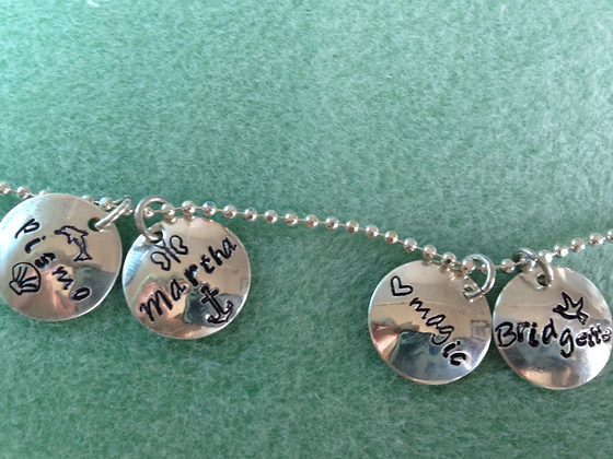 Sterling SIlver Charms 1/2 inch CUSTOMIZED