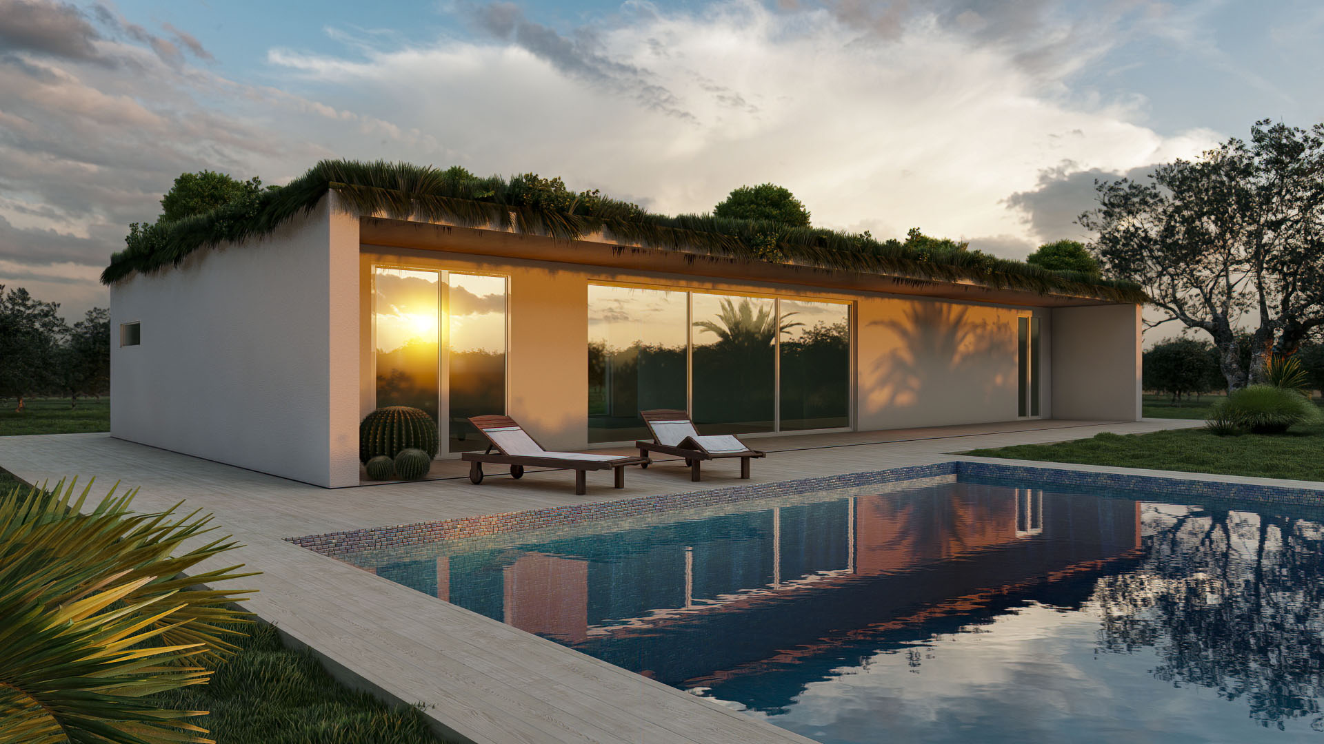 Render 3D Villa Molise