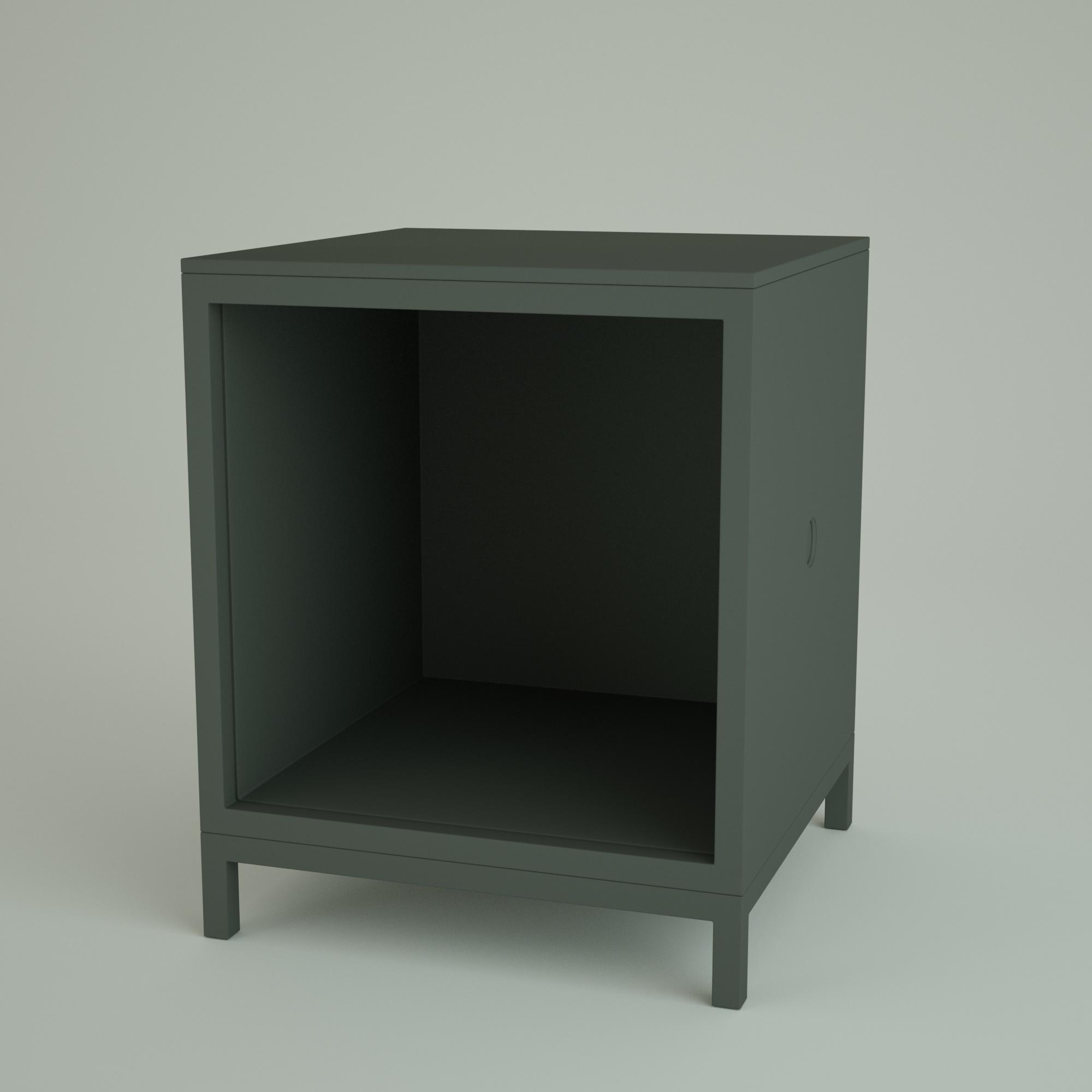 Render 3D Cubo - Comodino